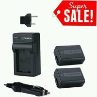 Smatree Battery NP-FW50 2pcs with Charger for Sony Alpha A3000 A5000