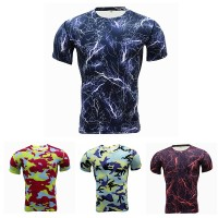 Kaos T-Shirt Compression Pria untuk Olahraga / Gym / Fitness / Lari
