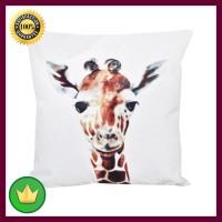 45x45 Cm Sarung Bantal Sofa Girrafe - Putih