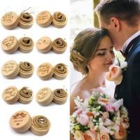 Kotak Cincin Pernikahan Bentuk Batang Kayu Gaya Rustic Untuk