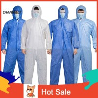 ☌Ch Unisex Disposable Laboratory Hospital Hood Isolation Gown