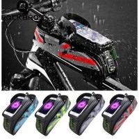 ROCKBROS Bicycle Frame Bag Waterproof Touch Screen Easy Bike Front