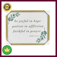 Hiasan Dinding Quote Be Joyful 40x50x2.3 Cm