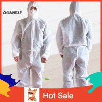 ☌Ch Unisex Disposable Non Woven Hood Isolation Gown Waterproof