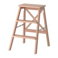 IKEA BEKVAM, Tangga, 3 tingkat, kayu beech, 63 cm