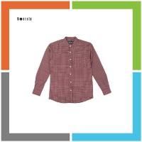 HP325 kemeja lengan panjang by Worth ID Collar Shirt - Maroon