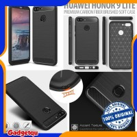 Huawei Honor 9 Lite - PREMIUM Carbon Fiber Brushed Soft Case Cover