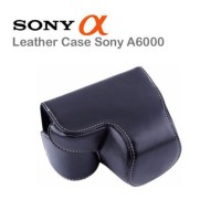 Bag Tas Leather Case Kamera Mirrorless Sony Alpha A6000 Promo