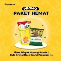 PAKET HEMAT Filma Minyak Goreng 1Lt + Rose Brand Gula Premium 1Kg