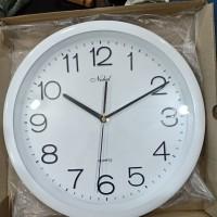 Jam Dinding Putih NOBEL uk besar diameter 40 cm