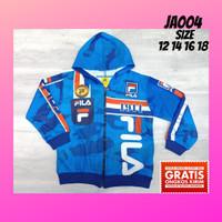 Jaket anak laki-laki army biru pakaian sweater hoodie casual JA004