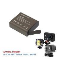 Batere Action Camera 3.7V Li-ion 1050mAh - Baterai Sports Cam