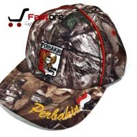 Topi Perbakin Loreng Camo Import / Topi Berburu Menembak Kamuflase