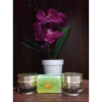 Herbal Cream Pemutih Wajah Pagi & Malam + Sabun Muka Super Glowing Ori