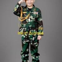 Baju-stelan-kostume profesi TNI AD cilik