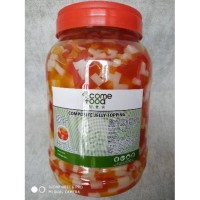 Come Food Topping Rainbow Jelly 3.8 Kg