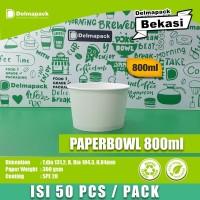 PAPER BOWL 800 ML - MICROWAVE - FOODGRADE - 50 PCS/PACK