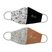 Masker kain non medis custom nama - Yoga