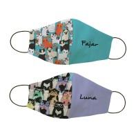 Masker kain non medis custom nama - All Cat