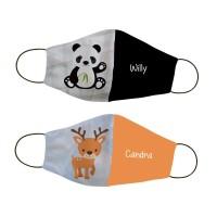 Masker kain non medis custom nama - Panda