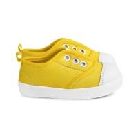Sepatu Anak Unisex umur 1 2 TAHUN slip on antislip kuning. C03