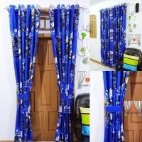 Hordeng pintu manohara biru model smokring ( 1 pasang )