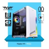 Casing PC Rakiitan Gaming Armaggeddon Nimitz N5 Aurora White