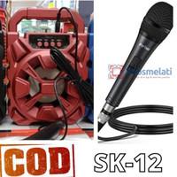 Speaker Bluetooth Karaoke Portable SK 12/ SK 15 Mega BAss FREE MIC
