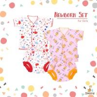 Blessing Babywear-baju bayi tangan pendek neci dan celana POP-NB-G