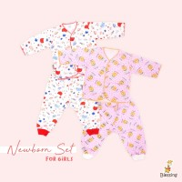 Blessing Babywears-baju bayi tangan panjang dan cln panjang-NB-G