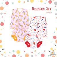 Blessing Babywears-set baju bayi tangan kutung dan celana POP-NB-G