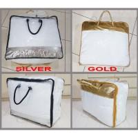 Tas bedcover SILVER GOLD / plastik bedcover ukuran double / besar