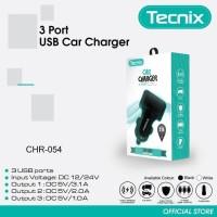 Tecnix CHR-054 - 3 Port USB 3,1A Max Smart IC Car Charger Original