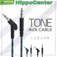 Hippo Aux Cable Tone Kabel Audio 3.5mm jack Original Resmi ( SATUAN )