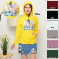 Sweater Hoodie Aplikasi Motek Rambut Pirang