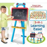 Learning Easel / Drawing Board /Papan Tulis /Papan Edukasi Anak 3 IN 1