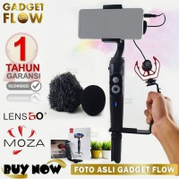 PAKET VLOG GIMBAL Stabilizer Moza Mini S Mic Microphone D MM1 Lensgo