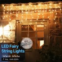 Lampu Tumblr Tirai warm white / lampu led hias natal dekorasi String