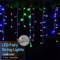 lampu tumbrl tirai rainbow / lampu led hias natal dekorasi String LED