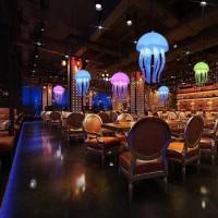 Lampu hias LED ubur-ubur lampu kamar tidur lampu cafe gantung dekorasi