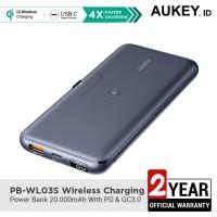 Aukey Powerbank PB-WL03S Wireless Charging 20000mAh - 500551
