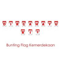 BANNER FLAG / BUNTING FLAG HUT RI / DIRGAHAYU REPUBLIK INDONESIA