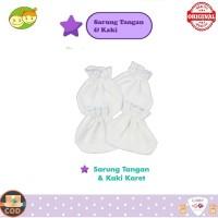 Libby STK Polos Sarung Tangan Kaki Bayi Baru Lahir Mitten Booties Set