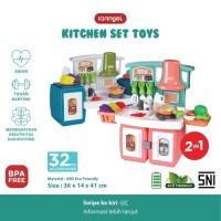 IQAngel Kitchen Set Toys Mainan Masak Masakan Kompor Nyala Suara Kran