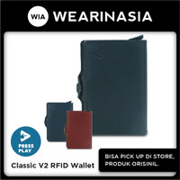 Press Play Classic V2 RFID Leather Pop Up Card Case Wallet