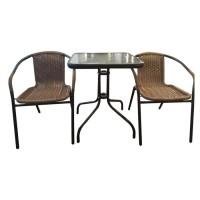 Atria Meja Santai De Grass Square Table Chair Set