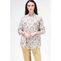 Kemeja Lengan Panjang / Ariana Cream Shirt 24434T5CM - Bodytalk