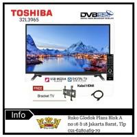 TOSHIBA 32L3750 DVB-T2 Digital LED TV - Hitam [32 Inch]