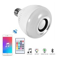 Lampu Bohlam LED RGB E27 12W Dengan Bluetooth Speaker
