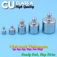 1 Set Anak Batu Timbangan Kalibrasi CU CLASS A High Quality